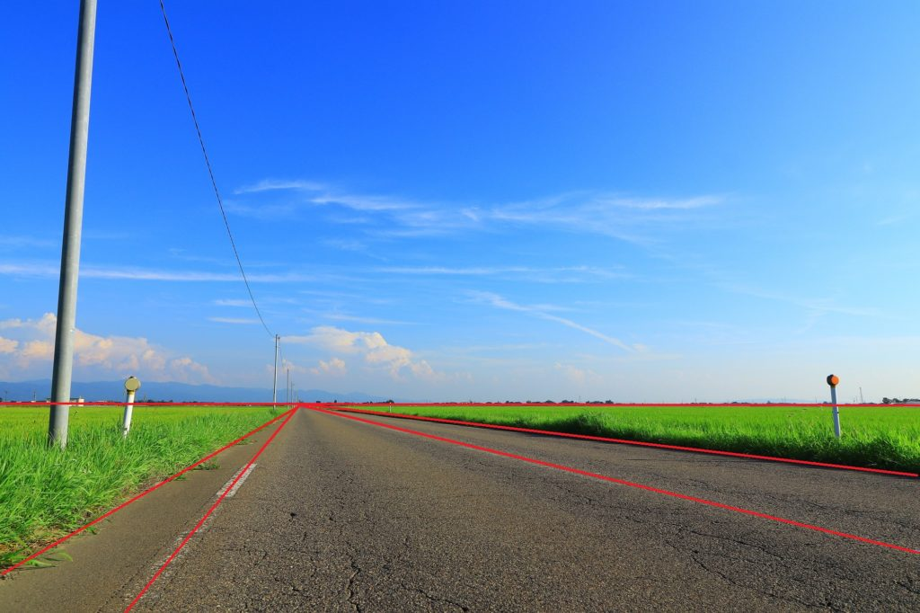 夏の農道(放射線)