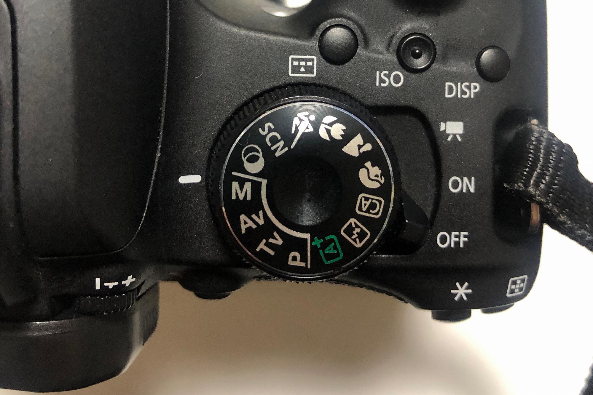 モードダイヤルの写真