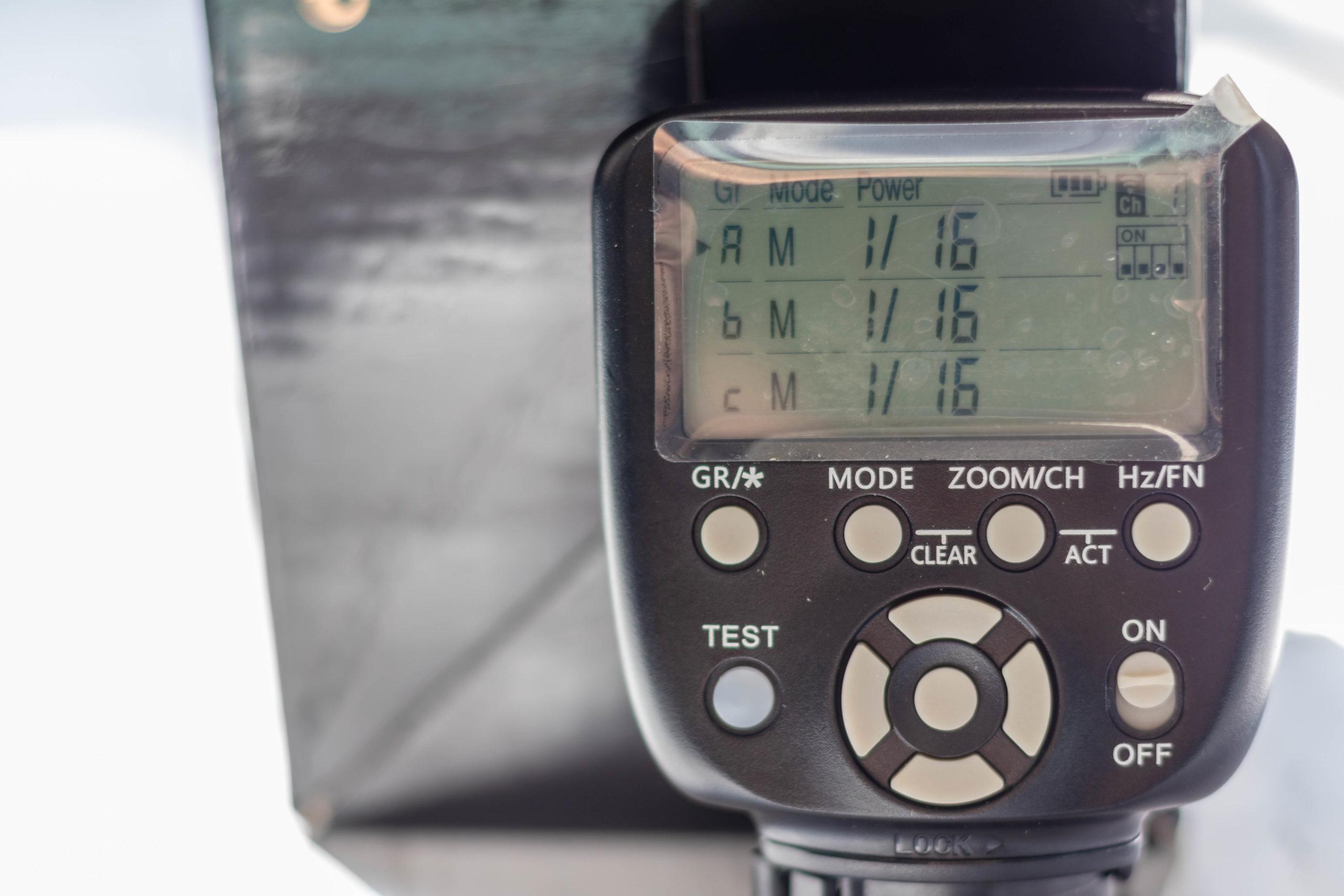 YONGNUO YN560TX II 操作画面