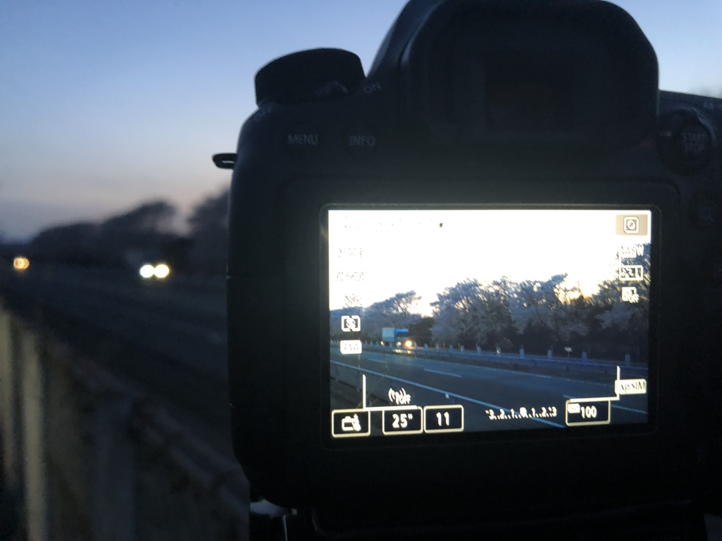 光跡撮影の設定
